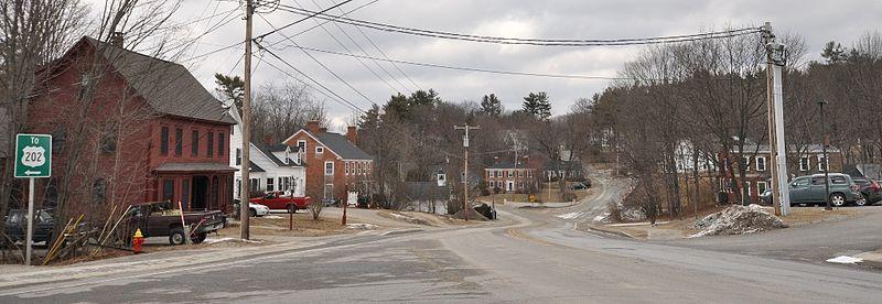 Ansicht der Kleinstadt Bennigton in Vermont