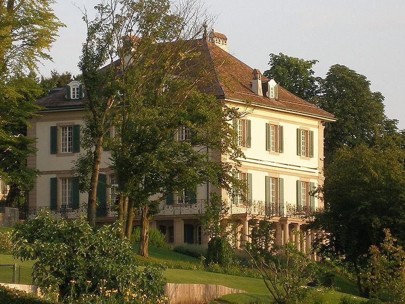 """Die Villa Diodati, in der die Idee zum Roman """"Frankenstein"""" entstand."""