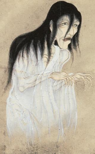 Japanischer Geist der Edo-Zeit als Zeichnung