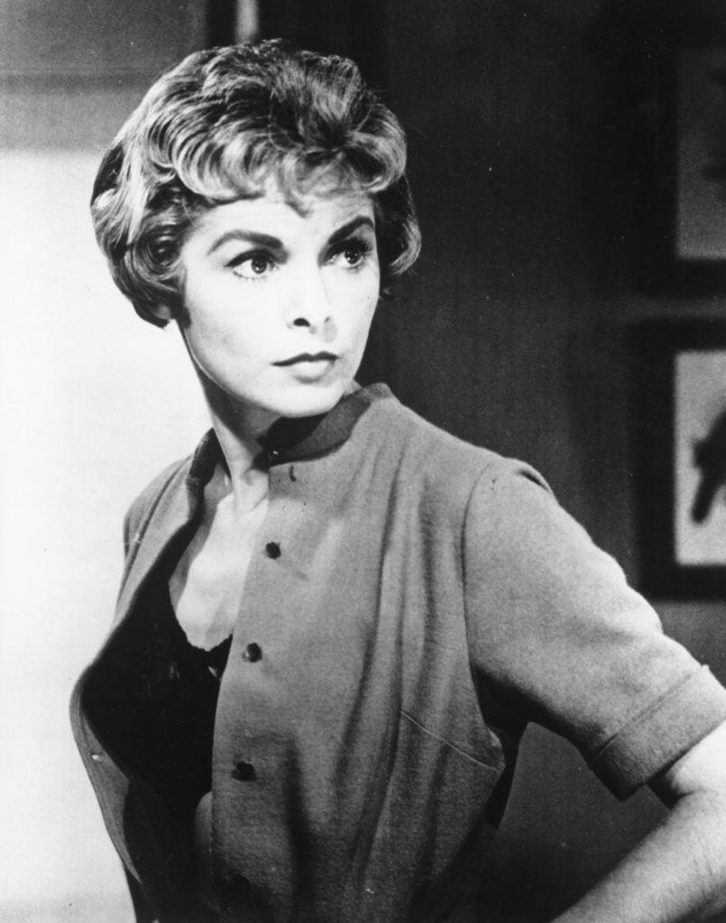 """Janet Leigh am Set von Hitchcocks """"Psycho""""."""