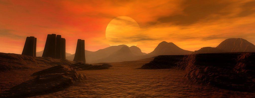 Lovecraftsche Wüstenruinen