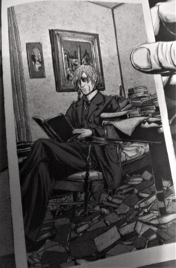 """Studierender Professor Peaslee in Gou Tanabes Manga """"Der Schatten aus der Zeit"""""""